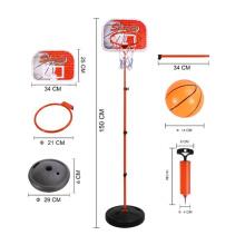 Conjunto de básquetbol para niños, 1.5 metros, juego deportivo de juguete (10232759)