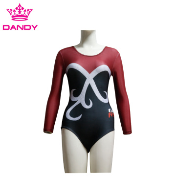 Fsahion Long Sleeve Practice Gymnastics Dance Leotards