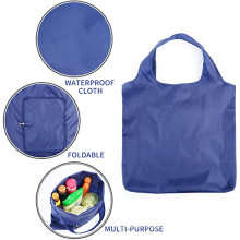 Promotion Extra Large Eco Nylon Polyester Reusable Foldable Shopping Bag Folded Grocery Carry Bag