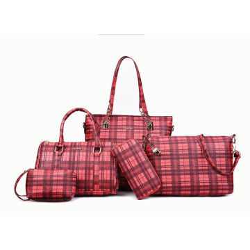 Fashion 4pcs treillis set lady sac à main