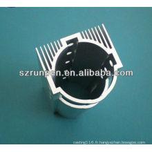 Dissipateur thermique d'extrusion de lumière de LED anodisée