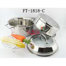 Stainless Steel Twp Layers Steamer Pot (FT-1818--C-XY)