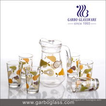 Hotselling Glass Drinking Set with Fansion Printing