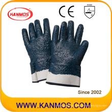 Nitrile jersey revestido de seguridad industrial guante de trabajo con acabado rugoso (53005)