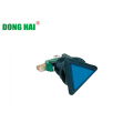 Blue Triangle Push Button Switch Lamp