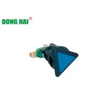 Lâmpada triângulo azul botão interruptor