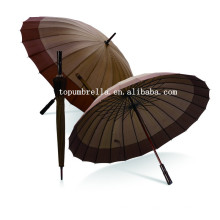 24 Panels pg Stoff geraden Regenschirm
