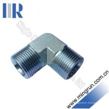 Connecteur de tube hydraulique de mamelon d'adaptateur de coude Bsp (1B9)