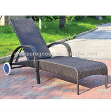 Cute removable PE rattan chaise lounge