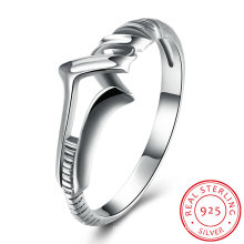 925 Sterling Silver Allow Shape Simple Design Ring Classical Jewelry