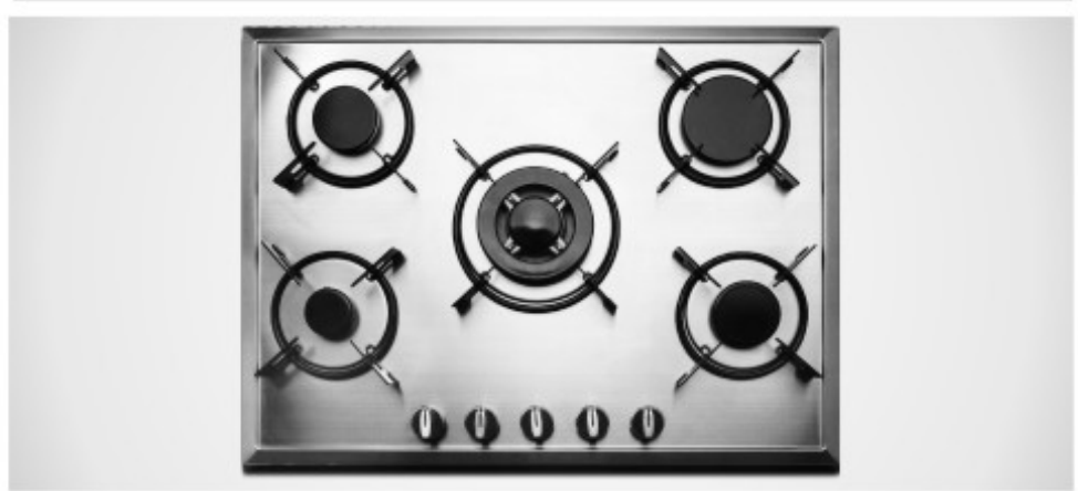 Gas Cooker 5 Burner Glass Body