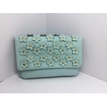 Factory Designer Fashion Embossment Flower PU Crossbody Handbag (D-F542 #)