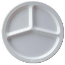 100% Melamine Dinnerware/Melamine 3-Divided Plate (NS702)