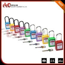 Verrous de verrouillage de cadenas de sécurité minces et colorés avec grille en acier