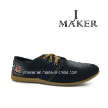 Chinese Women Walking Sneaker with PVC Outsole Injection (JM2040-L)