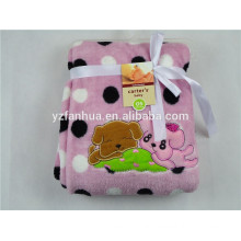 wholesale knitted baby fleece blanket packaging box