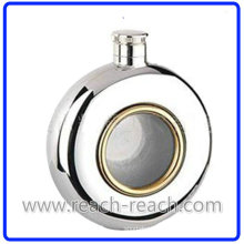 Round Shape Stainless Steel Hip Flask (R-HF006)