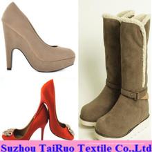 100% Polyester Micro Suede für Damen Schuhe Stoff