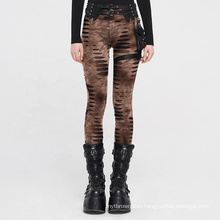 PUNK RAVE steampunk sexy Elastic women plus size girls casual removable waist bag burnt-out knitted leggings