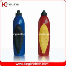 Garrafa de água desportiva plástica, garrafa de água desportiva plástica, garrafa de bebida de plástico de 600 ml (KL-6644)