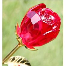 New Arrival Crystal Glass Rose with Long Stems