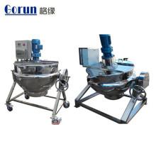 Bouilloire de cuisson à double enveloppe en acier inoxydable industrielle de 200 litres