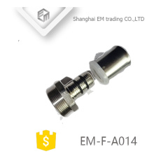 EM-F-A014 Brass straight press connecting chromed adaptor pipe fitting