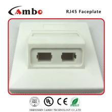 China suppliers 1/2/4 Port Australia wall plate cat 6 rj45 surface mount box