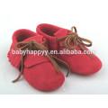 Chinesisch gebrandte erste Spaziergang weiche Sohle Leder Baby Schuhe