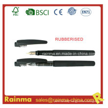 Black Liquid Ink Pen with Rubberised Finish Barrel