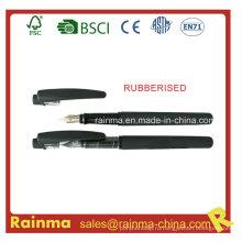 Черная жидкость чернила ручка с прорезиненной отделкой баррель