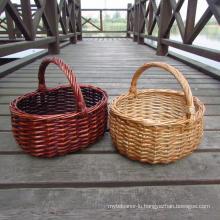 (BC-WB1012) High Quality Handmade Natural Willow Basket/Gift Basket