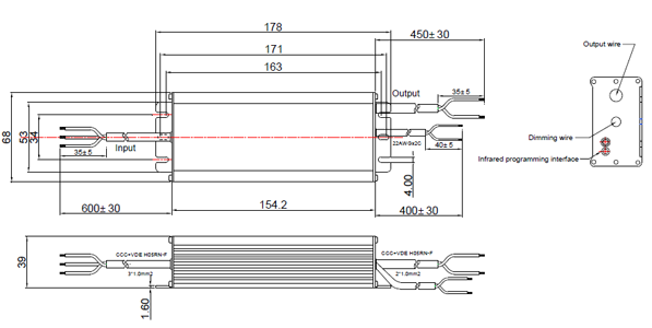 LDP-120R170 Mechanic drawing
