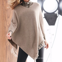 15PKCSP09 cheap autumn winter cashmere wool poncho sweater