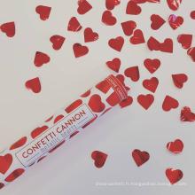 Poppers de partie de canons confettis de coeurs rouges sûrs parfaits pour n'importe quelle partie
