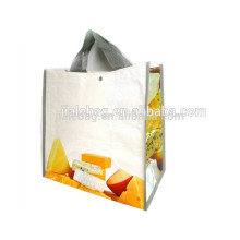 2017 the most promotional cheap recycle pp woven bag/ woven shopping bag with button close