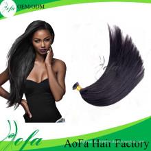 7А Бразильский прямые волосы я-наконечник /U-наконечником человеческих волос Remy девственницы