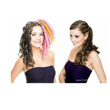Faixa de cabelo ondulada trançada portátil