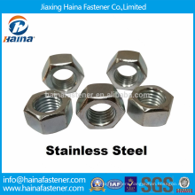 DIN Standard Stock Plain Stainless Steel Finished Bright Nuts