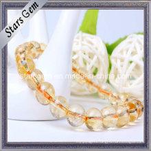 Various Size Natural Citrine Beads Bracelet