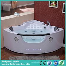 Tube de bain en acrylique à angle intérieur LED coloré (TLP-678)