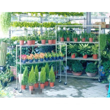 Подвижные регулируемые хромовые металлические корзины цветов / растений, одобрение NSF