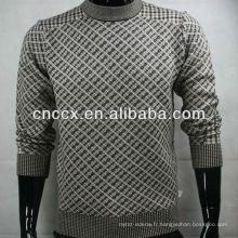 12STC0643 pull en laine à col ras du cou pour hommes