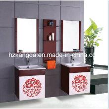 Gabinete de banheiro de madeira maciça / vaidade de banheiro de madeira maciça (KD-432)