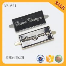 MB621 Emblème de logo en métal personnalisé gaufré