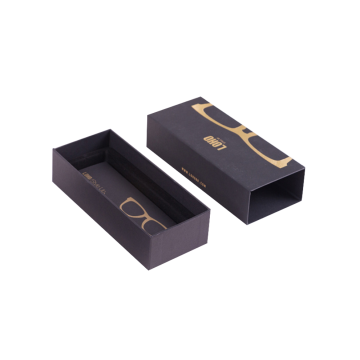 Brillen-Paket Logo Design Black Packaging Box
