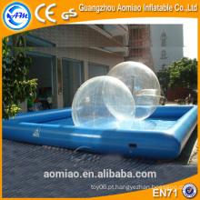 Aluguel de piscina de hamster inflável, piscina inflável bola pit