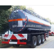 Remolque del petrolero de 3 árboles / remolque del tanque 42000L / remolque del tanque 42CBM / semirremolque de la aleación de aluminio 42000L / remolque del tanque del acero inoxidable