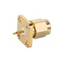 Conector de enchufe con brida cuadrada recta SMA