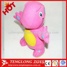2015 new design children's gift cute dinosaur soft toy coin bank